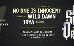 Dernier concert de WILD DAWN: St Jean de Braye, le 31 mars 2018 (avec Irya et No One Is Innocent)