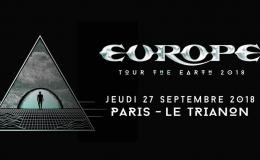 EUROPE live à Paris (Le Trianon, le 27/09/2018)