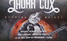 LAURA COX live à Paris (Trabendo, le 4 décembre 2019)